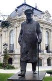 churchill άγαλμα του Παρισιού winston Στοκ Εικόνα