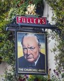 Churchill bewapent Caf? in Londen royalty-vrije stock fotografie