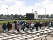 Churchill Downs hem av det Kentucky derbyt i Louisville USA Royaltyfria Bilder
