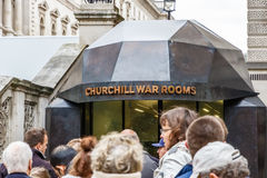 Churchill krigrum i London royaltyfri bild