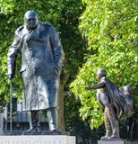 Churchill Statue. At Parliament Square London Stock Images