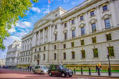 The Churchill War Rooms museum, a historic underground complex used for government command centre during Second World War, royalty free stock photo