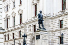 Churchill War Rooms and Robert Clive Memorial in London. Churchill War Rooms and Robert Clive Memorial seen from King Charles street in London Stock Photos