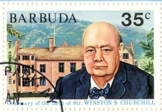 churchill γραμματόσημο winston Στοκ εικόνες με δικαίωμα ελεύθερης χρήσης