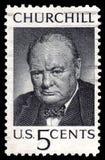 churchill znaczek pocztowy usa rocznika winston obraz royalty free