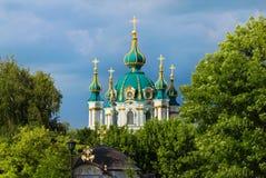 Churchin St Andrew, Киев, Украина Стоковое Изображение RF