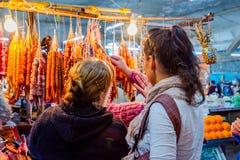 Churchkhela al bazar, Kutaisi, Georgia Immagini Stock Libere da Diritti
