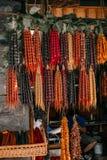 Churchkhela hecho en casa georgiano de los dulces fotografía de archivo