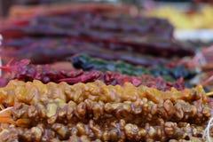Churchkhela saboroso e doce da culinária Georgian fotos de stock