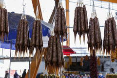Churchkhela at the town market in Tbilisi Royalty Free Stock Photography