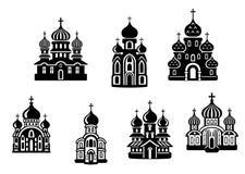 Churchs e tempie illustrazione vettoriale