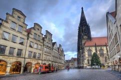 Churchtower av Munster, Tyskland Fotografering för Bildbyråer