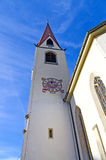Churchtower with clock Royalty Free Stock Photos