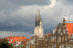 Churchtower of Delft Royalty Free Stock Photos