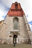 Churchtower gótico vermelho foto de stock