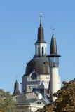 Churchtower and minaret, Stockholm Royalty Free Stock Photo