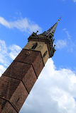 Churchtower in Obernai, Alsace, France Stock Image