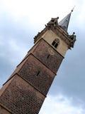 Churchtower in Obernai, Alsace, France Stock Photo