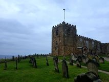 churchyard royaltyfri foto