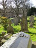 churchyard royaltyfria foton
