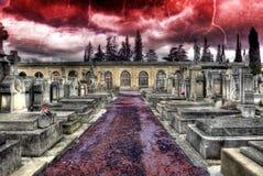 Churchyard and Christian religion. Stock Image