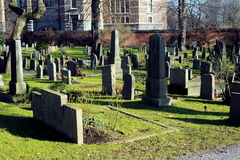 Churchyard at Djurgarden, Stockholm, Sweden Royalty Free Stock Image
