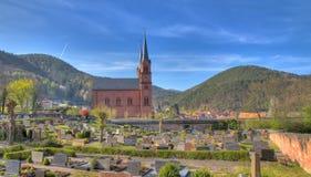 churchyard germany pfalz arkivfoton