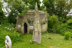 Churchyard at Godshill village church Isle of Wight Royalty Free Stock Photos