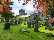 Village church and churchyard Royalty Free Stock Image