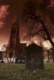 churchyard johannes royaltyfri bild