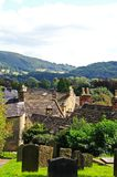 Churchyard and rooftops, Bakewell. Royalty Free Stock Photography