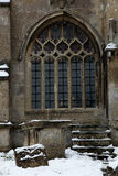 Churchyard in Snow Royalty Free Stock Image