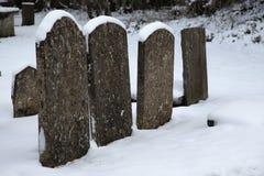Churchyard in Snow Stock Photos