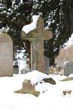 Churchyard in Snow Royalty Free Stock Photos
