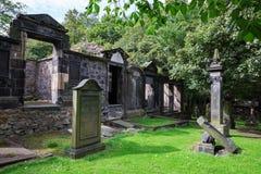 Churchyard of St Cuthbert`s Church Stock Photo