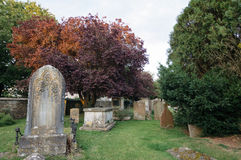 Churchyard at sunset Royalty Free Stock Images