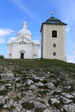 Churck and outlook tower on the top of Svaty-kopec Stock Photography