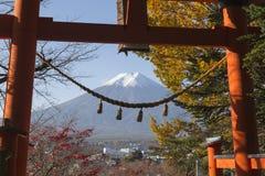 Chureito塔在吉田市,日本 免版税库存照片