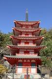 Chureito塔在日本 图库摄影