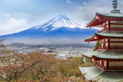 Chureito塔观点在日本 免版税图库摄影