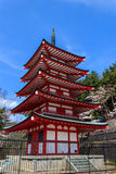 Chureito Pagoda in Arakura Sengen Shrine. Stock Photo