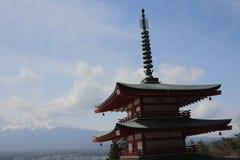 Chureito Pagoda at Arakura Sengen Shrine i. Popular place to take photos with Fuji Mountain in Japan Royalty Free Stock Photo