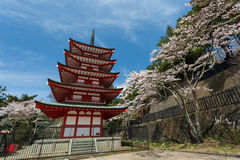 Chureito Pagoda in Arakura Sengen Shrine. Royalty Free Stock Photos