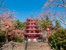 Chureito pagoda. In autumn royalty free stock image