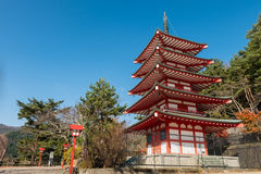 Chureito pagoda Royalty Free Stock Images