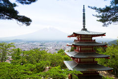 Chureito Pagoda Royalty Free Stock Photo