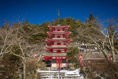 Chureito Pagoda. Is a fomous place to visit located near Mt.Fuji ,Japan Stock Photography