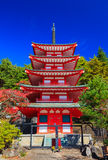 Chureito Pagoda, Fujiyoshida, Japan. Chureito Pagoda in autumn, Fujiyoshida, Japan Stock Photo
