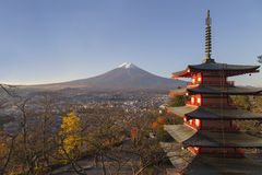 Chureito Pagoda in Fujiyoshida, Japan Stock Images
