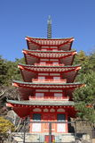 Chureito Pagoda in japan Stock Photography